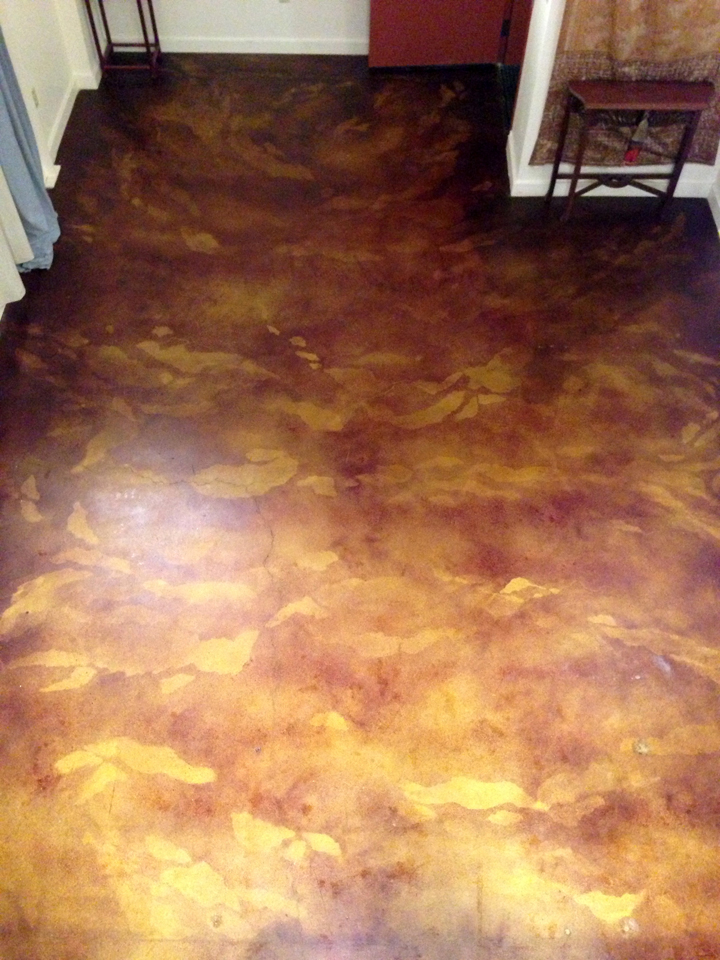 Decorative Concrete Staining - After