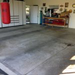 Garage Floor Stain Seal - Before