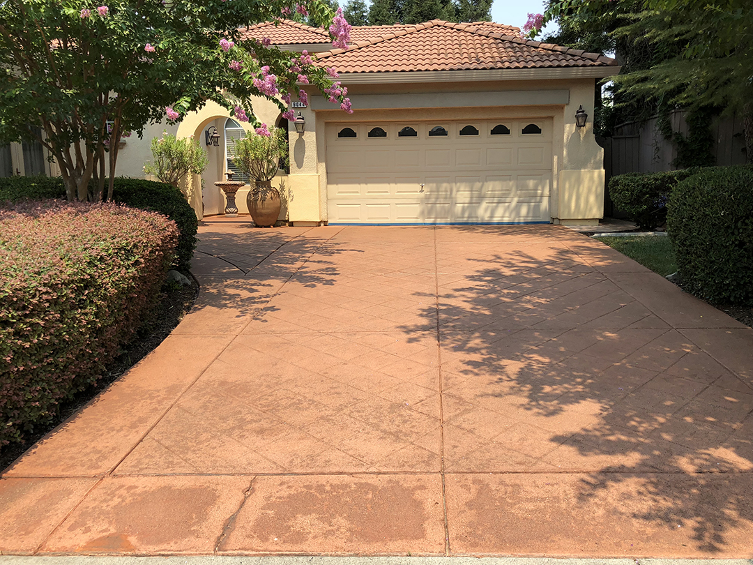 Concrete Driveway Clean Seal - After