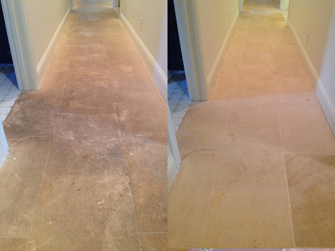 Natural Stone Tile Clean Seal - Before-After